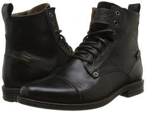 Bottines en cuir noir Levi's pour homme